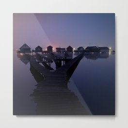 Houses on the lake Metal Print