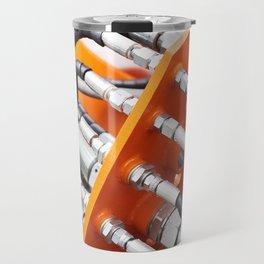 Hoses of hydraulic machine Travel Mug