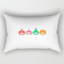 Pomme, Pêche, Poire, Abricot Rectangular Pillow