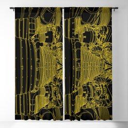 Apollo Rocket Booster - Yellow Neon Blackout Curtain