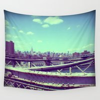 manhattan Wall Tapestries featuring Manhattan by 2b2dornot2b