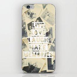 live love laugh iPhone Skin