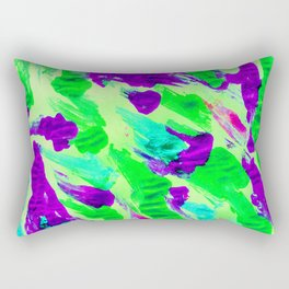 Foil Monoprint Green Rectangular Pillow