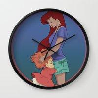 ghibli Wall Clocks featuring Goodbye Ghibli by Hyung86