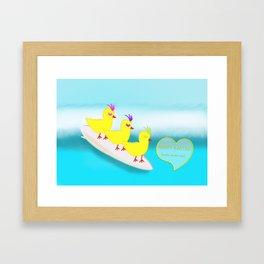 Surfie Chicks at Easter Framed Art Print