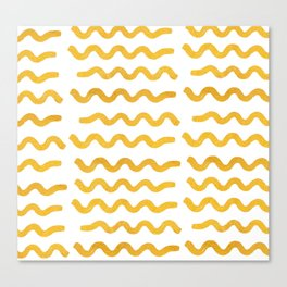 GOLD WIGGLE Canvas Print