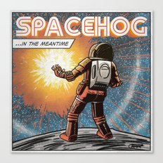 7 inch series: Spacehog - In the meantime Canvas Print