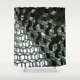 Harpa,  concert hall and conference centre Shower Curtain