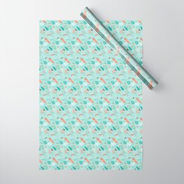 Surfs Up Blue Wrapping Paper