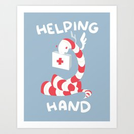 Helping Hand Art Print