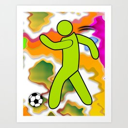 Soccer Player Icon Art Print
