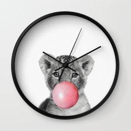 Bubble gum Lion Wall Clock