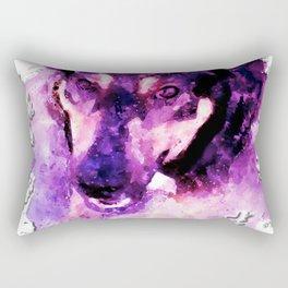 dog 3 perfect purple Rectangular Pillow