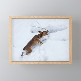 there's no mountain to high Framed Mini Art Print