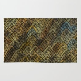 Multi-coloured Dragon Fly Wings Rug