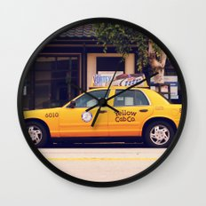 Yellow Cab Co ∫ Living Los Angeles Wall Clock