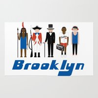 brooklyn Area & Throw Rugs featuring Brooklyn  by harlembrooklyn