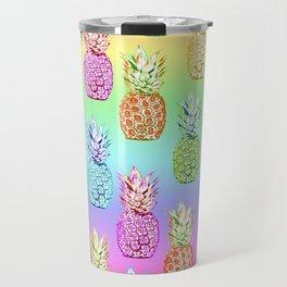 Pineapple Rainbow Travel Mug