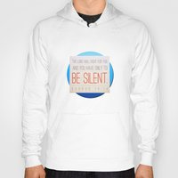 silent Hoodies featuring SILENT by Peter Gross