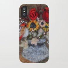Cardinal Bouquet iPhone X Slim Case