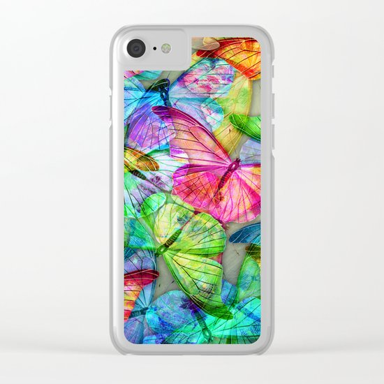Butterfly Farm Clear iPhone Case