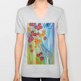 Beautiful Blossoms Unisex V-Neck