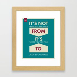 Godard (The quotes series) Framed Art Print