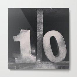 Number Crazy #10 Metal Print
