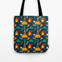 Let's Explore The Great Outdoors - Dark Blue Tote Bag