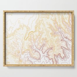 Contour Map of Bryce Canyon, Utah Serving Tray