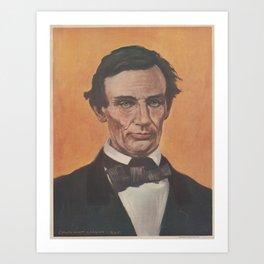 Vintage Portrait of Abraham Lincoln (1895) Art Print