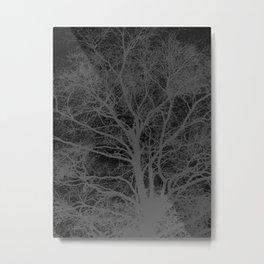 Black and white tree silhouette Metal Print