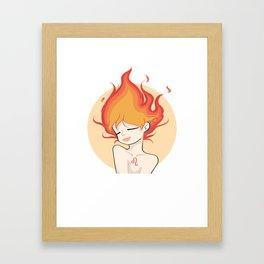 Zodiac   Leo   Fire Girl Framed Art Print