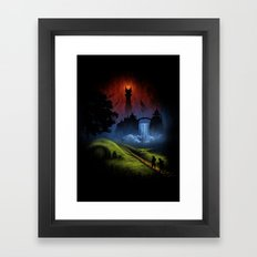 Over The Hill - The Lord Of The Rings Framed Art Print