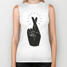 Fingers Crossed Biker Tank