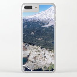 Clear Blue Skies and a Mountain View Clear iPhone Case