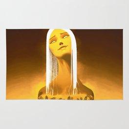 Luminescent Gold Rug