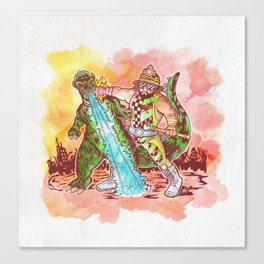 Macho King of Monsters Canvas Print