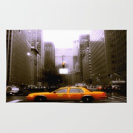 Yellow City Cab Rug