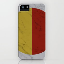 Yellow and Red Halves iPhone Case