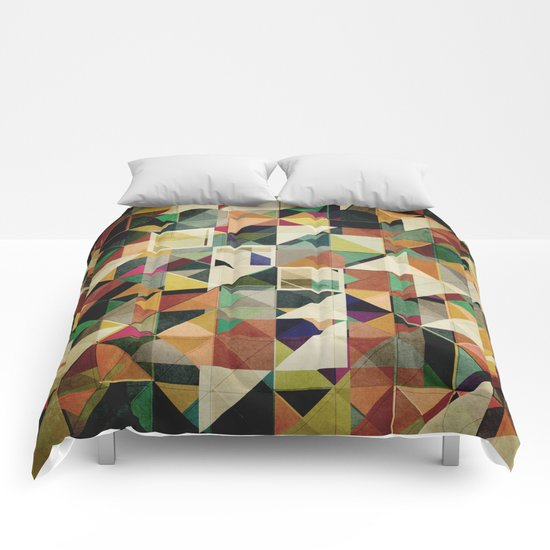 Earth Tones Abstract Comforters