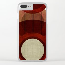 """Retro Abstract Big Circle"" Clear iPhone Case"