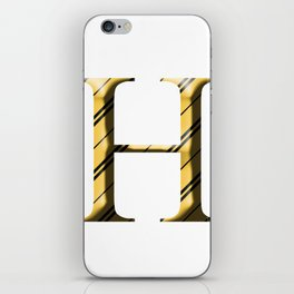 H for Hufflepuff iPhone Skin