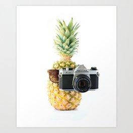 The Tourist Pineapple Art Print