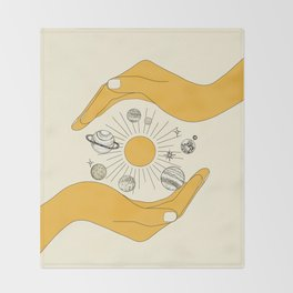 The Universe in Your Hands Throw Blanket