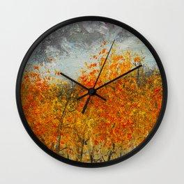 Aspens in the San Juans by Ainé Daveéd Wall Clock
