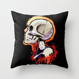 Bonehead 2 Throw Pillow