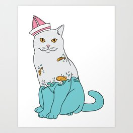 Inside Kitty Art Print