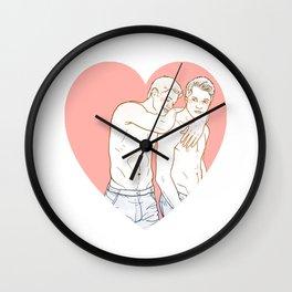 DeanCas Heart Hug (Pink) Wall Clock
