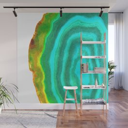 Druze turquoise agate Wall Mural